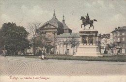 Cpa/pk 1907 Liège Liége Luik Statue Charlemagne KLEUR COLOR - Liege