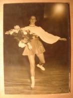 PHOTO DE 1948 - MISS OSBORNE PALAIS DES GLACES PATINEUSE PATINAGE  - Danse  - Tirage D'époque FOUCHAT INP PHOTOS PARIS - Deportes