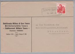 Heimat TI Tenero-Gordola 1946-03-13 Bahnstationsstempel Auf Brief Nach Dübendorf - Schweiz