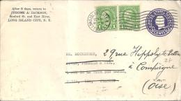 USA - Entier Postal De LONGISLAND Du 16sept 1935 Pour PARIS - Entiers Postaux