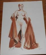 Brayer. Femme Drapée (Sanguine) Belle Reproduction De Nu. 1946. - Estampas & Grabados