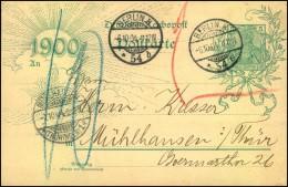 Jahrhundertkarte Ab BERLIN N * 54 B 6.10.04 Nach Mühlhausen/Thüringen, Da Natürlich Längst Ungültig Mit 10 Pfg. Nachport - Deutschland