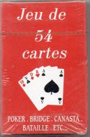 JEU DE 54 CARTES - POKER - BRIDGE - CANASTA - BATAILLE - NEUF - B. & G. - 54 Cartes