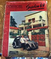 L'officiel De L'AUTOMOBILE  Et De L'élégance. SALON 49.  1ère Photo Couleurs De La  2 CV CITROËN. - Books, Magazines, Comics