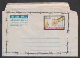 Pakistan 193 Help Release 90000 Prisoners Of War, Hands, Rare Stationery Rs.1.25 Aerogramme, As Per Scan - Pakistan