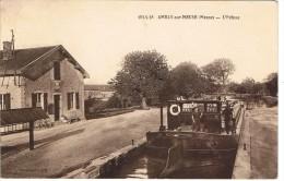 CP55A- AMBLY-sur-SEINE - La Péniche Dans L'écluse - Other Municipalities