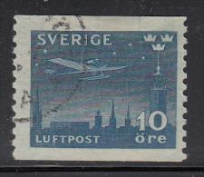 Sweden Used Scott #C6 10o Airplane Over Stockholm Oldst