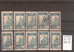 NIGER N° 47 Oblitéré Lot De 10 Timbres Sélectionnés Mais Non TRIéS // Lot B - Niger (1921-1944)
