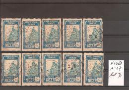 NIGER N° 47 Oblitéré Lot De 10 Timbres Sélectionnés Mais Non TRIéS // Lot D - Niger (1921-1944)