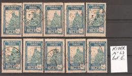 NIGER N° 47 Oblitéré Lot De 10 Timbres Sélectionnés Mais Non TRIéS // Lot E - Niger (1921-1944)