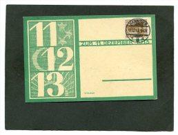 Deutsches Reich Postkarte 1913 11 12 13 - Usati