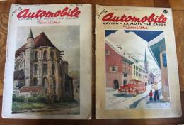 2 Vieux Numéros L'Automobile, L'avion La Moto Le Canot N° 14 Et 15 ; Mars 1947 - Books, Magazines, Comics