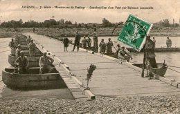 AVIGNON - 7è Génie - Manoeuvres De Pontage - Construction D'un Pont Par Bâteaux Successifs - - Avignon
