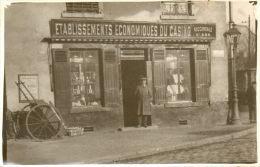 CARTE PHOTO Devanture Des établissements économiques Du Casino Succursalle N°484 - Magasins