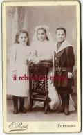 CDV-jolie Photo Vers 1890 -une Communinate Bien Entourée-bel état-photo Emile Rat à Poitiers - Photos