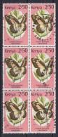 Kenya 1988 Mi. 422      2.50 Sh Schmetterling Butterfly Papillon 6-Block !! - Kenia (1963-...)