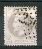 N° 27Ia°__gris-lilas En Tres Bon Centrage_cote 85.00 - 1863-1870 Napoléon III Lauré