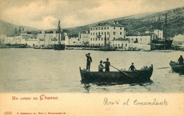 Un Saluto Da Cherso  Cres  Dov E Il Comandante Carnaro Primorje Austro Hungary - Kroatien
