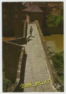 {40670} 48 Lozère Mende , L' étroit Pont Notre Dame , 14è Siècle ; Animée , Vue De Dessus - Mende