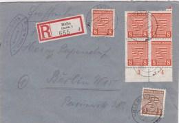 12.1.46 SELTENER MiF. R.-Brief Halle/Berlin. MK - Zone Soviétique