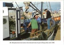 Erquy-le Port-remplacement D´un Moteur D´un Chalutier-1988- -cpm - Erquy