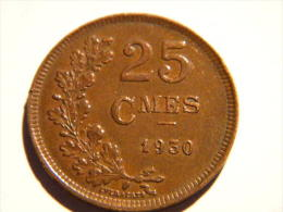 LUXEMBOURG. - 25 CENTIMES 1930. BEL ETAT. - Luxembourg