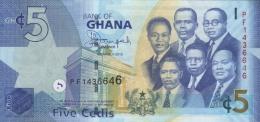 GHANA - REPUBLIC OF GHANA - GH¢5. Banknote  Issued 6th March, 2013 - Ghana
