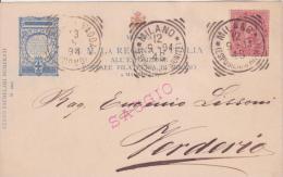 1894 Regno D'Italia Visita DellaRegina , Cartolina Saggio Tiratura Di 100 Esemplari - Esposizioni