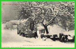 DEUX C.P.A.Les Vosges En Hiver-Environs De Gerardmer.Effet De Neiges,montagnes Des Vosges.(recto Verso) - Gerardmer