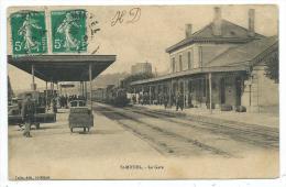CPA -SAINT MIHIEL -LA GARE -Meuse (55) -Circulé 1911 -Animée -Edit. Colin à Saint Mihiel - Saint Mihiel