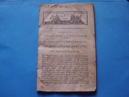 Gros Bulletin Des Lois AN VI: Appel Du Directoire, Déclaration Du Conseil Des Cinq Cents Sur La Tenue Des élections - Blotters