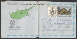 CYPRUS KIBRIS Stationery 15c Pictorial Aerogramme Famagusta Gate, Refugee Fund 1984, Used 20.9.1988 - Chypre (République)