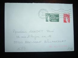 LETTRE TP SABINE DE GANDON 1,20F + VIGNETTE BRETIGNY OBL.MEC. 7-5-1979 BRETIGNY SUR ORGE (91 ESSONNE) - 1977-81 Sabine De Gandon