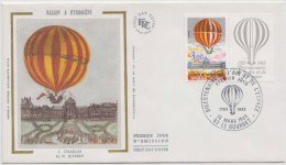 Hot Air Balloon, Silk Cacheted Cover, France - France