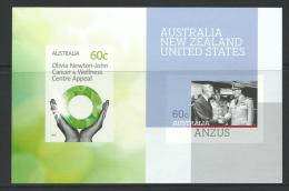 2012 Olivia Newton John Cancer & ANZUS Issues Imperforate Only Available From 2012 Year Book Complete Mint Never Hinged - Blocks & Sheetlets