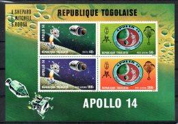TOGO. BF 52 De 1971 (neuf Sans Charnière : MNH). Apollo XIV. - Space