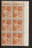 1957 N°1115 Neuf Xx Bloc De 6 ! Serie-MOISSONNEUSE - Unused Stamps