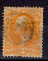 U.S.A. 1873 3 Cent Department Of Agriculture Issue #O3  Target Cancel - Officials