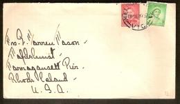 AUSTRALIA, MELBOURNE Letter To NARRAGANSET ( RHODE ISLAND USA ) In 1937 ! Bidding Starts At 10 € ! - 1937-52 George VI