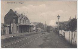 19645g GARE - LOCOMOTIVE à VAPEUR - Pont-à-Celles - 1910 - Pont-à-Celles