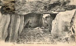 CPA CARNELLE. Forêt De Carnelle; Intérieur De La Pierre Turquoise. 1928 - France