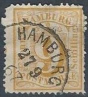 ALLEMAGNE - HAMBOURG - 9 S. De 1864-65 Avec FAUSSE OBLITERATION - Hambourg