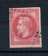 COLONIES  EMISSIONS GENERALES  Napoleon III,  Papier Teinté  N° 10 Obl (pliure) - Napoléon III