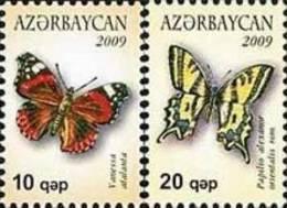 Azerbaijan 2009 Butterflies 2v MNH - Azerbaïjan