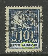 Estland Estonia Estonie 1923 Schmied Blacksmith Michel 39 A  + Printing ERROR - Estland
