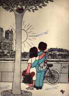 Illustration : Jean Effel - Récital Yves Montand , Théâtre De L'étoile - Bob Caetella - Odeon - Double OSX 101  OSX 102 - Vinyl-Schallplatten