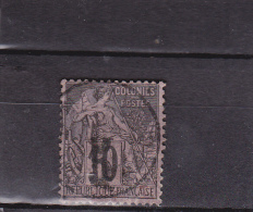 MADAGASCAR - YVERT N°6 OBLITERE - COTE = 150 EUROS - SIGNE SCHELLER - Madagascar (1889-1960)