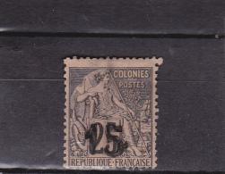 MADAGASCAR - YVERT N°5 SANS GOMME ET DEFECTUEUX - COTE = 280 EUROS - SIGNE SCHELLER - Madagascar (1889-1960)