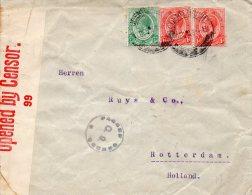 AFRIQUE DU SUD LETTRE CENSUREE POUR LA HOLLANDE 1918 - Südafrika (...-1961)