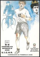 ATHLETICS / OLYMPIC GAMES - ITALIA CORREGGIO 2008 - DORANDO PIETRI - OLIMPIADI DI LONDRA 1908 - CARTOLINA UICOS